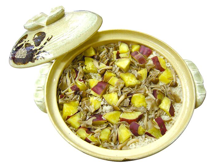 レシピ,秋,味覚,料理,栗,キノコ,さつま芋,土鍋,豚肉,中華,炊き込み,ご飯