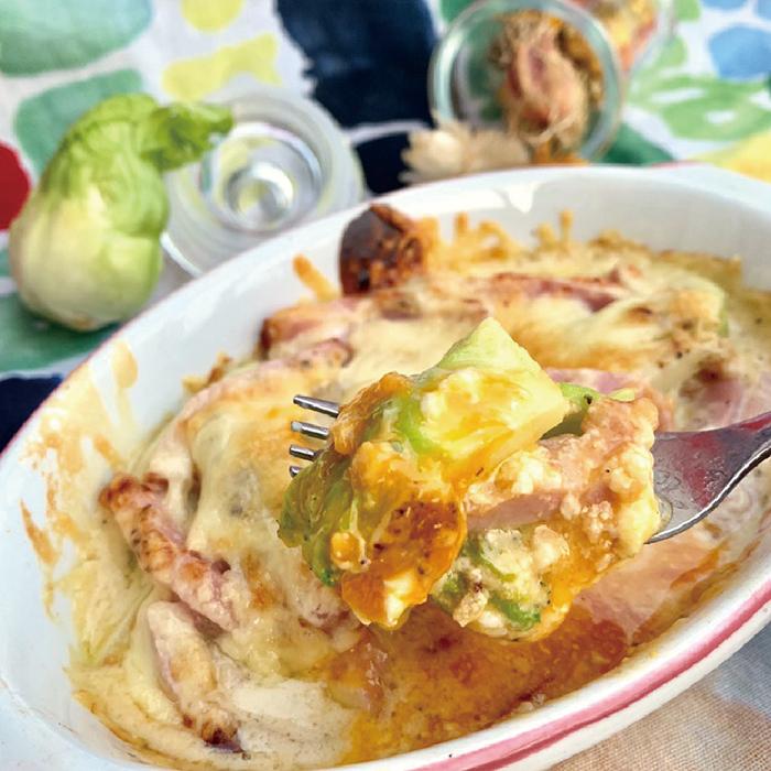 不動,たける,たけちゃんねる,レシピ,つぼみ菜,グラタン,ヘルシー