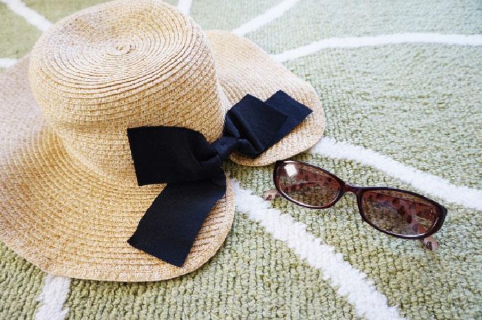 紫外線対策の帽子