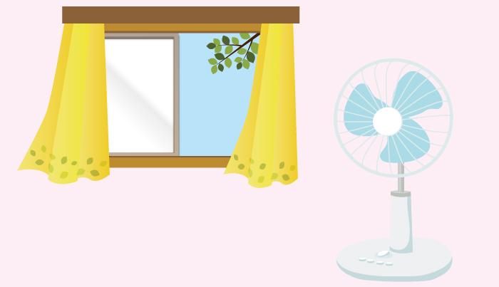 扇風機,風通し