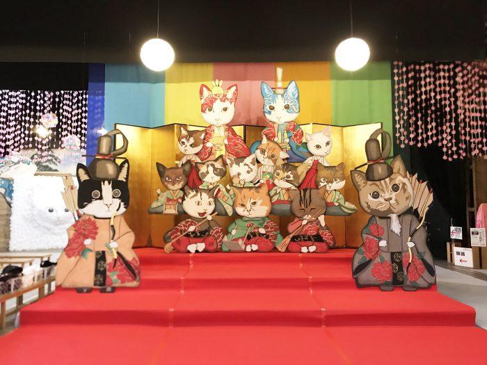 嘉穂劇場,ネコ,ひな祭り,雛人形,ネコ耳,ネコの手