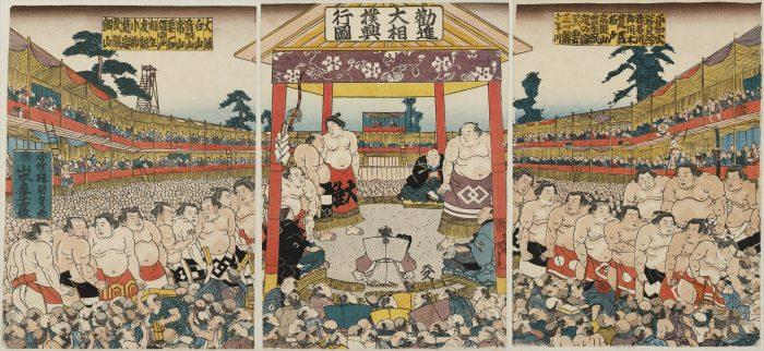 プレゼント,福岡県立美術館,相撲,化粧まわし,土俵,招待券,チラシ