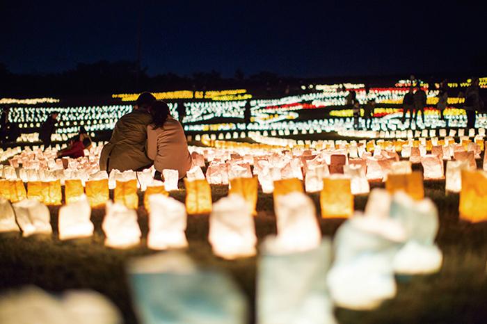 ザ・ルイガンズ,福岡,海の中道,クリスマス,ビュッフェ,キャンドル,ナイト,花火