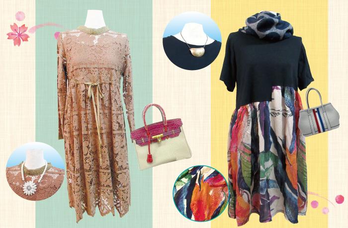 春,ファッション,ワンピース,コーディネート,SKIP,個性的,レース,刺繍