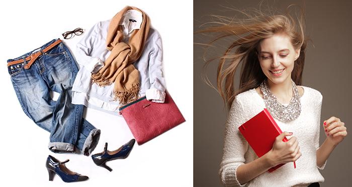 記者,コラム,ファッション,スキップ,洋服,内面,素敵