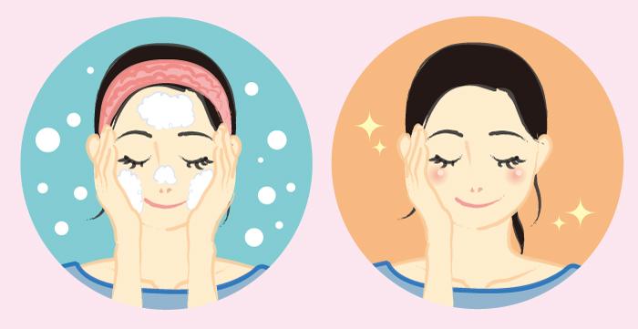 洗顔,丁寧,乾燥,スキンケア,酵素入り,角質,美容成分