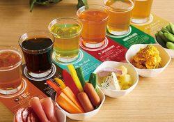 クラフトビールに合わせた料理のペアリングを提案。
