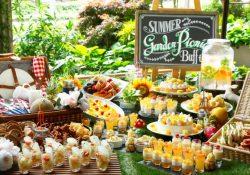 「ガーデンピクニック」がテーマのデザートビュッフェ